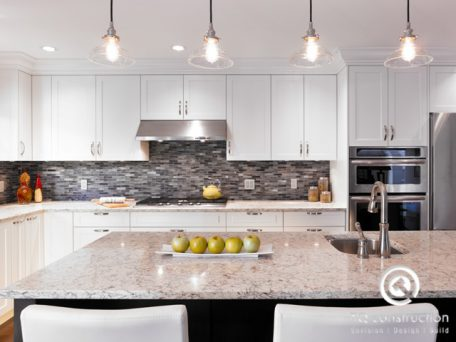 TQ Construction Kitchen Renovation with Industrial Lighting