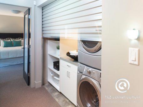 TQ Construction Motorized Garage Door to Complete Laundry Room