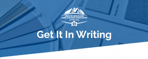 Greater Vancouver Home Builder's Association: Get It In Writing