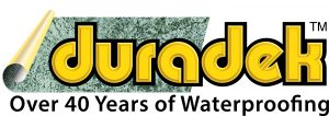 Duradek Logo, Over 40 Years of Waterproofing