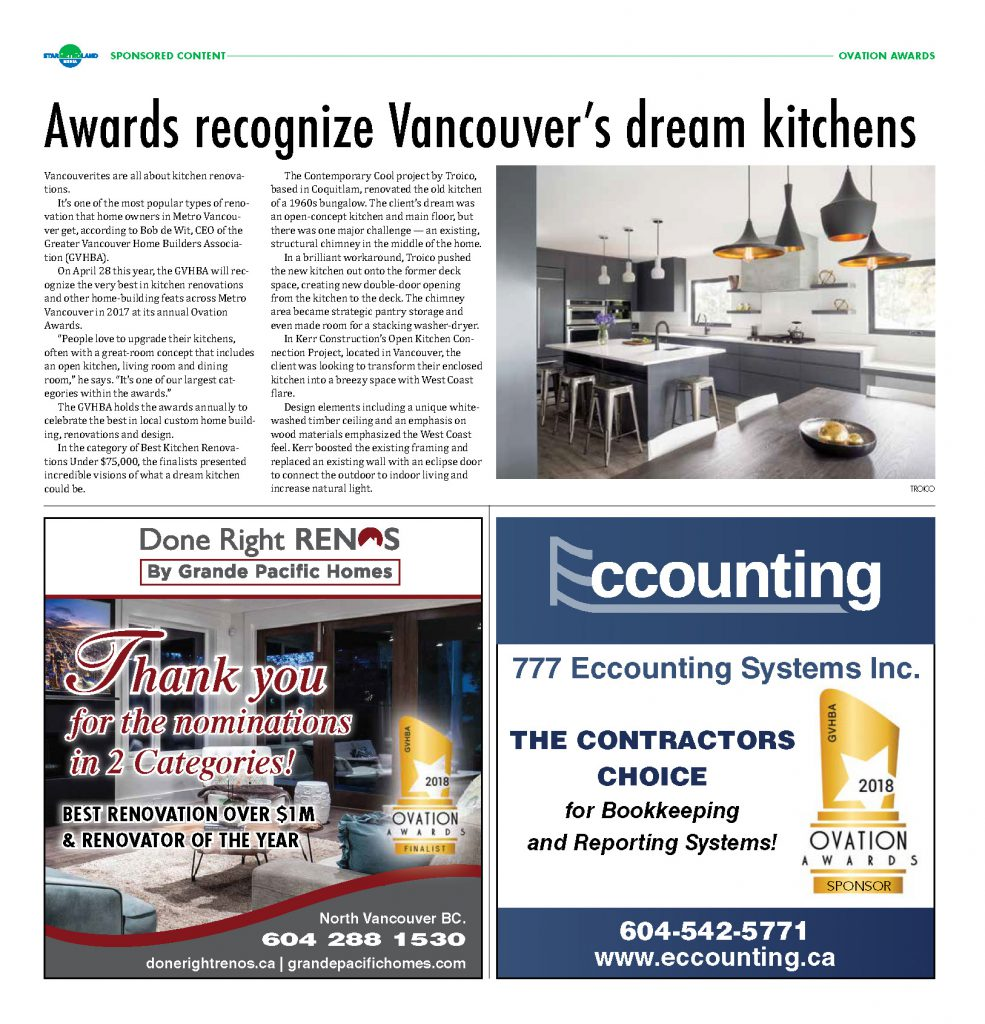 Awards recognize Vancouver's dream kitchens