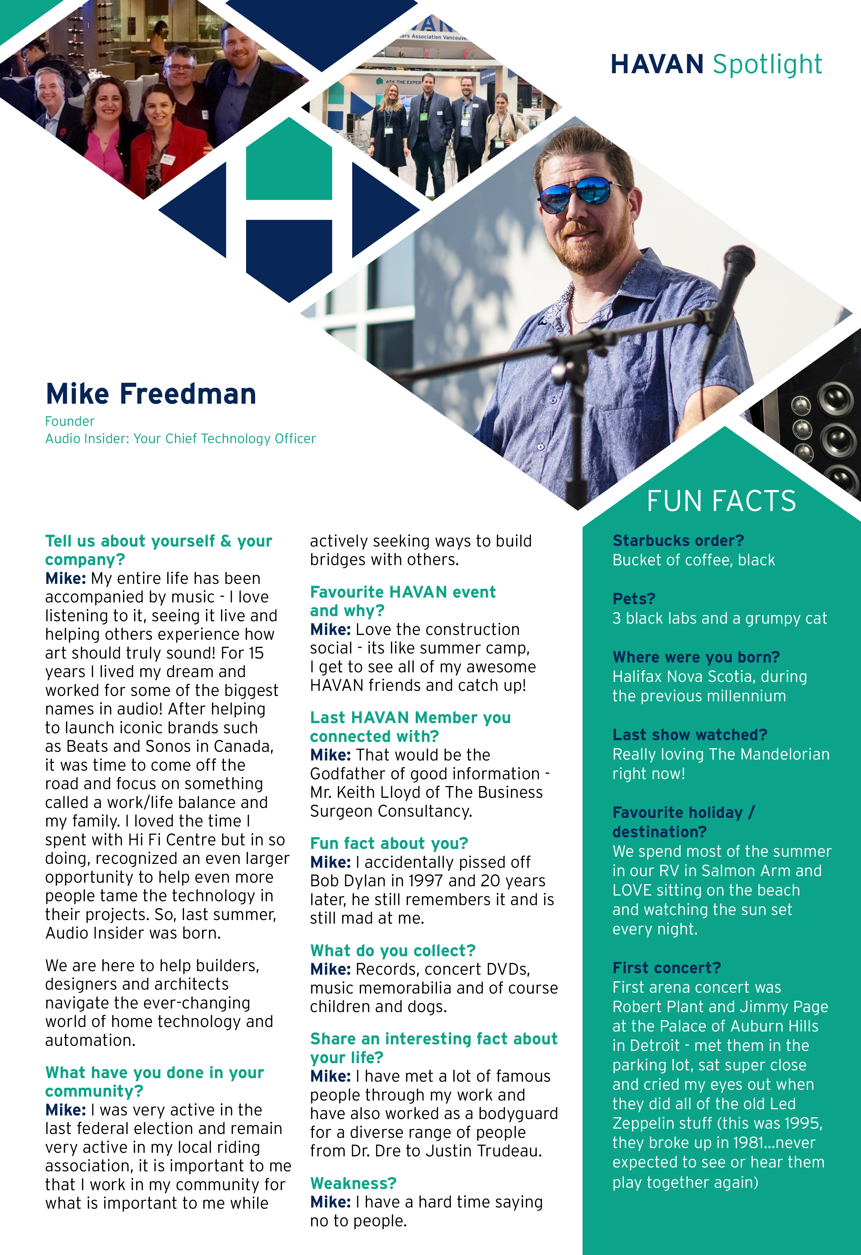 Mike Freedman Audio Insider